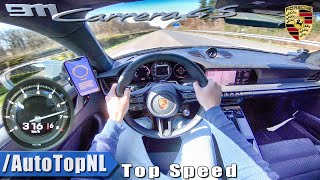 NEW! Porsche 911 (992) Carrera 4S 316km/h AUTOBAHN POV TOP SPEED by AutoTopNL