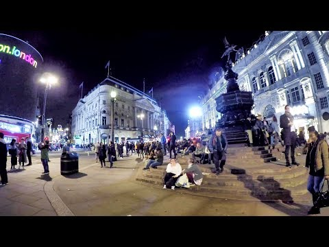London Night Walk. Piccadilly Circus and Leicester Square