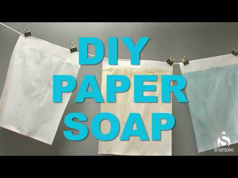DIY Paper Soap Using Water Soluble Paper from SmartSolve®