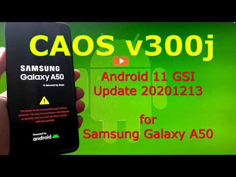 CAOS v300j Android 11 for Samsung Galaxy A50 Update: 20201213