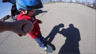 First Father-Son Skateboard Session!