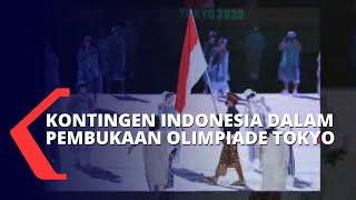 Download Potret Kemeriahan Kontingen Indonesia dalam Pembukaan Olimpiade Tokyo