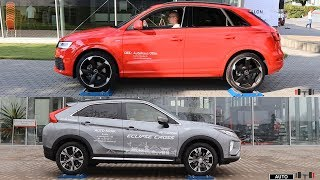 Audi Q3 Quattro vs Mitsubishi Eclipse Cross S-AWC - 4x4 test on rollers