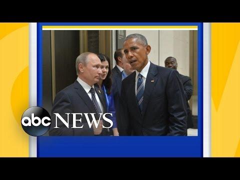 President Obama and Vladimir Putin at G20 Summit