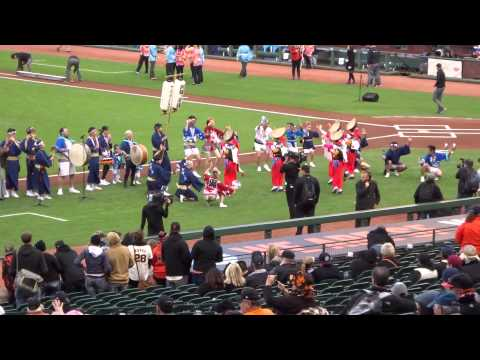Japanese Heritage Night dance performers @ AT&T Park  5/19/15