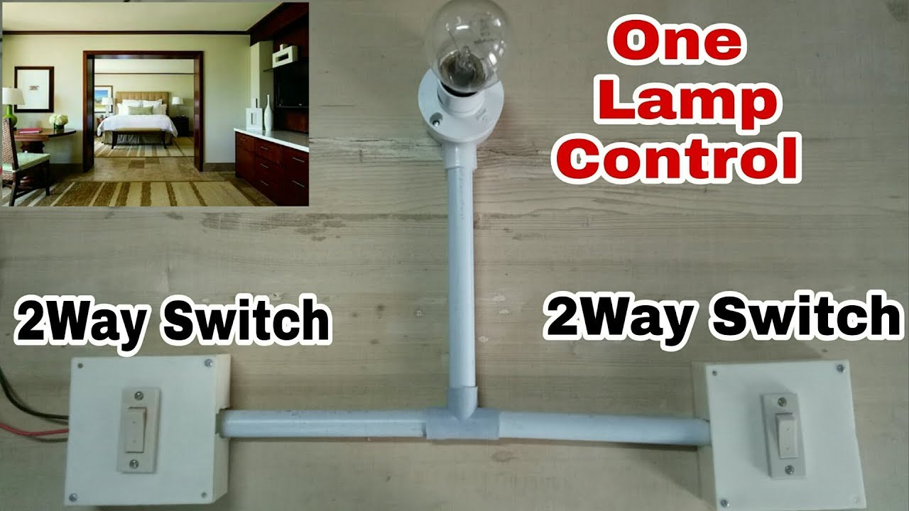 One Lamp Control Using 2  Two Way Switch