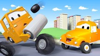 Steve la Aplanadora - Tom la Grúa en Auto City   Dibujos animados para niñas y niños
