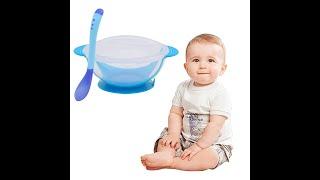 Посылка из Китая распаковка № 171 Детская тарелка с присоской, детская безопасная посуда, набор