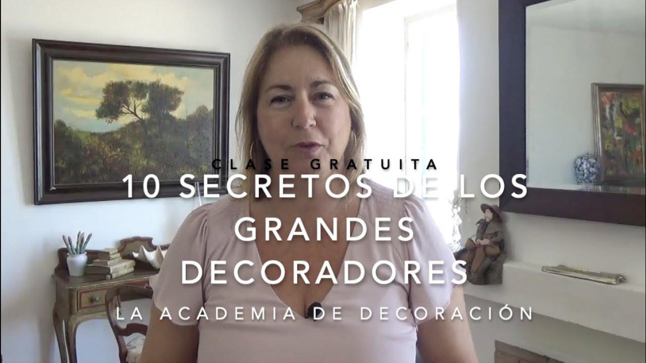 CURSO DECORACIÓN DE INTERIORES GRATIS⭐️ CLASE: 10 SECRETOS DE DECORACIÓN DE LOS GRANDES DECORADORES