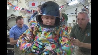 Kid Cancer Patient Art Adorns New Space Suit Unveiled On International Space Station