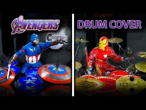 AVENGERS THEME DRUM COVER By Iron Man & Captain America!