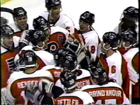 Phila Flyers Lindros 3rd NHL season Goals 22 23 24 25 26 27 28 29 1994-95 Atlantic Division Champs