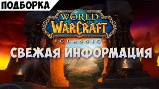 Свежая информация о World of Warcraft: Classic