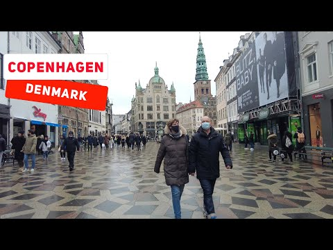 Copenhagen Denmark Busy Weekend Saturday Morning Walk.