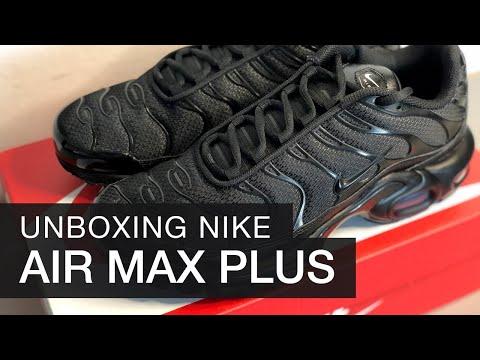 ✔️ Nike Air Max Plus Unboxing & On Feet | Triple Black