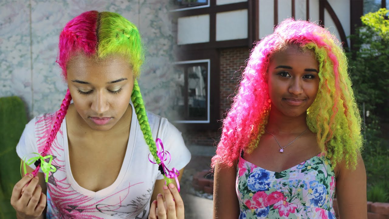 Half And Half Bright Yogurt Hair Dye Tutorial