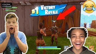 PLAYING FORTNITE WITH CEEDAYS BROTHER!