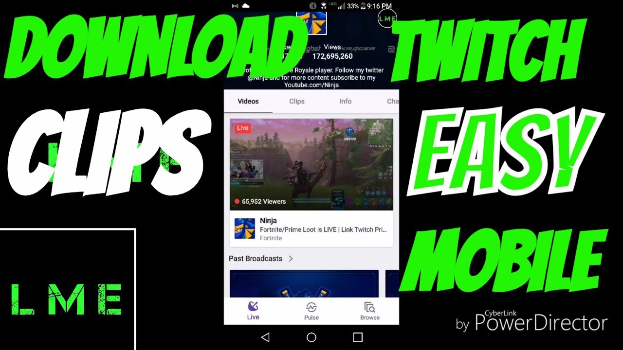 twitch video download android