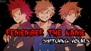 【Nightcore】Remember The Name [Deeper Version + lyrics] (switching vocals)