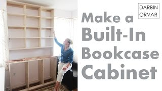 Darbin Orvar Built-In Cabinet Series Pt 2: Building Base & Shelves