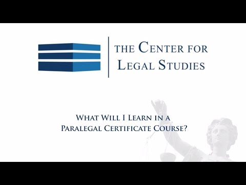 What Will I Learn in a Paralegal Certificate Course? | Paralegal Certification Online