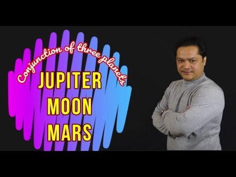 Conjunction of Jupiter, Moon, Mars#guru, chandra aur mangal ki yukti