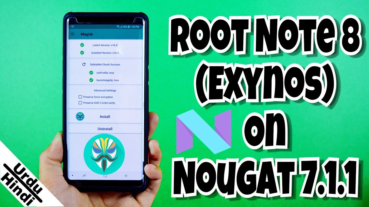With Magisk Root exynos Note urdu-hindi Nougat On 8 Galaxy twrp And