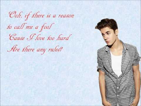 Die in Your Arms- Justin Bieber Lyrics