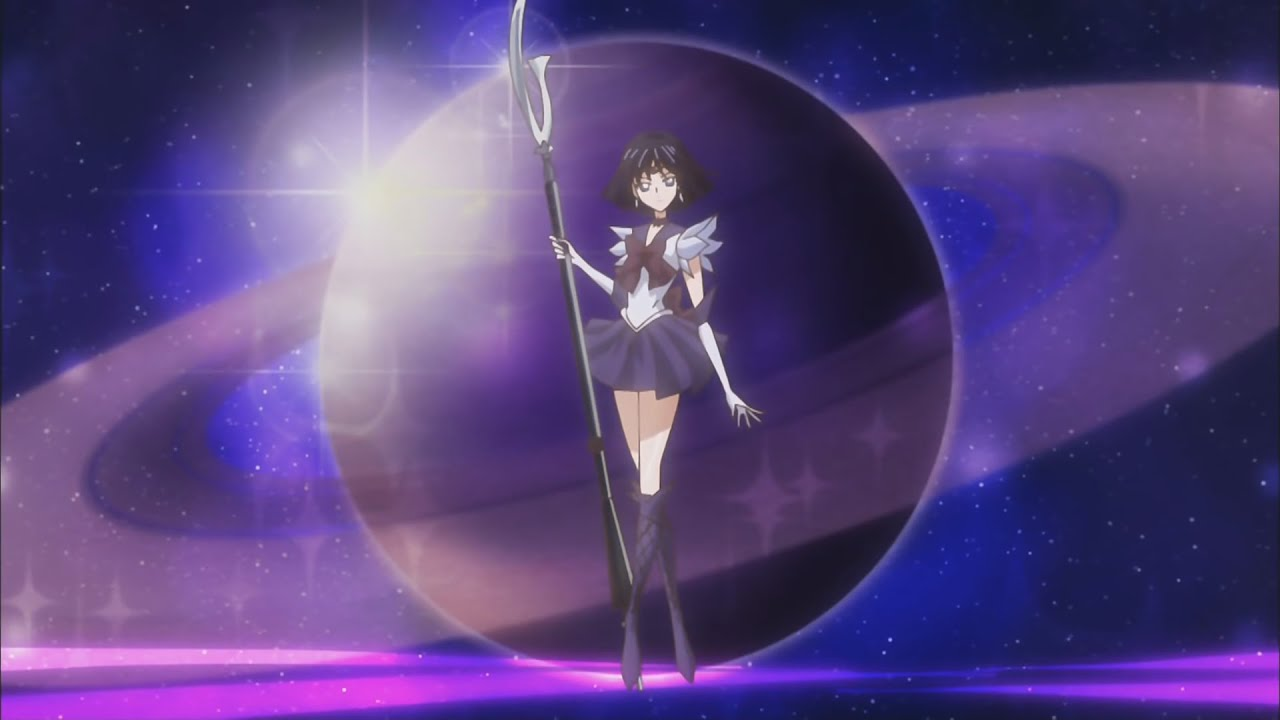 Sailor Saturn Awakens 90s Theme Moon Crystal