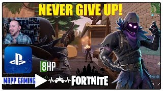 CRAZY LOW HEALTH BATTLE! NEVER GIVE UP! Fortnite RonnyHaze_MAPP