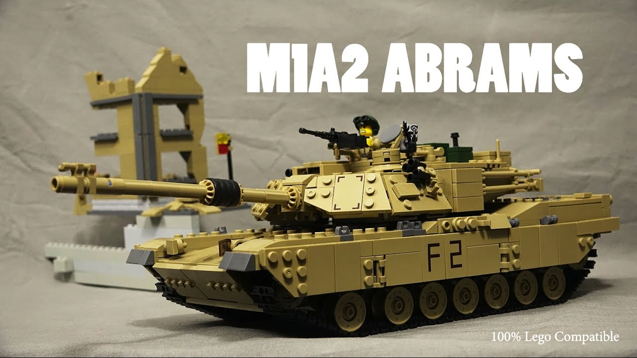 LEGO M1A2 Abrams Tank Battle Moc from Kazi - Review Military Brickarms  Brickmania Unboxing Lepin