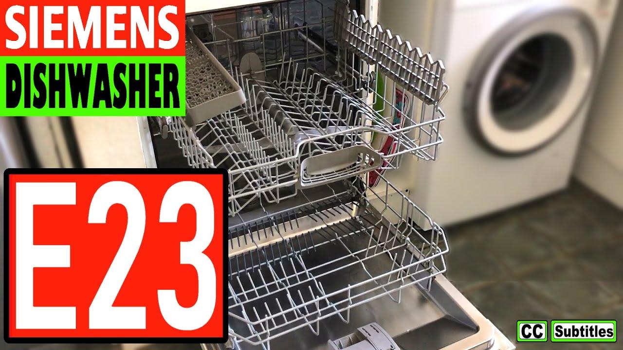 siemens e24 error dishwasher