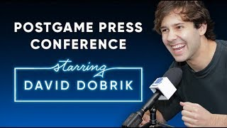 David Dobrik talks love, divorce, and more | Postgame Press Conference with SeatGeek