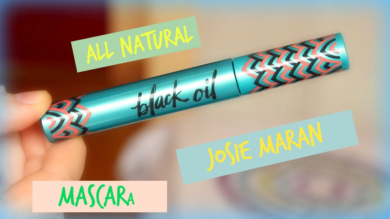 c3c79133d60 Josie Maran Black Oil Mascara Talk | Cruelty Free | Gluten Free | All  Natural