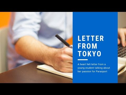 A letter from a young student in Tokyo