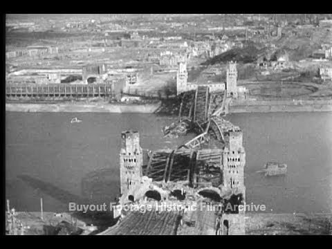Historic Archival Stock Footage WWII - Allies Drive Into Germany - Rhine Crossed