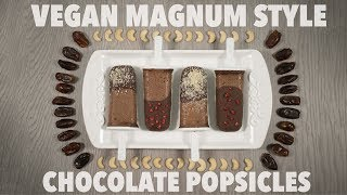 Vegan Magnum Style Chocolate Popsicles