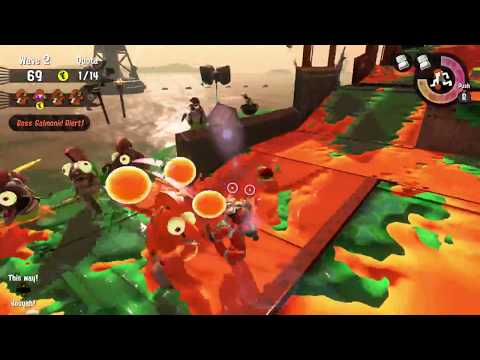 Splatoon 2: 4-Player Salmon Run Gameplay (100% Difficulty)