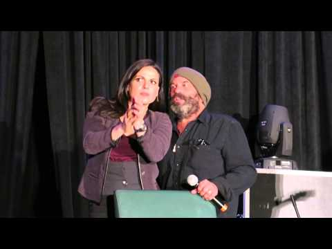 Lana Parrilla and Lee Arenberg at Creation Chicago