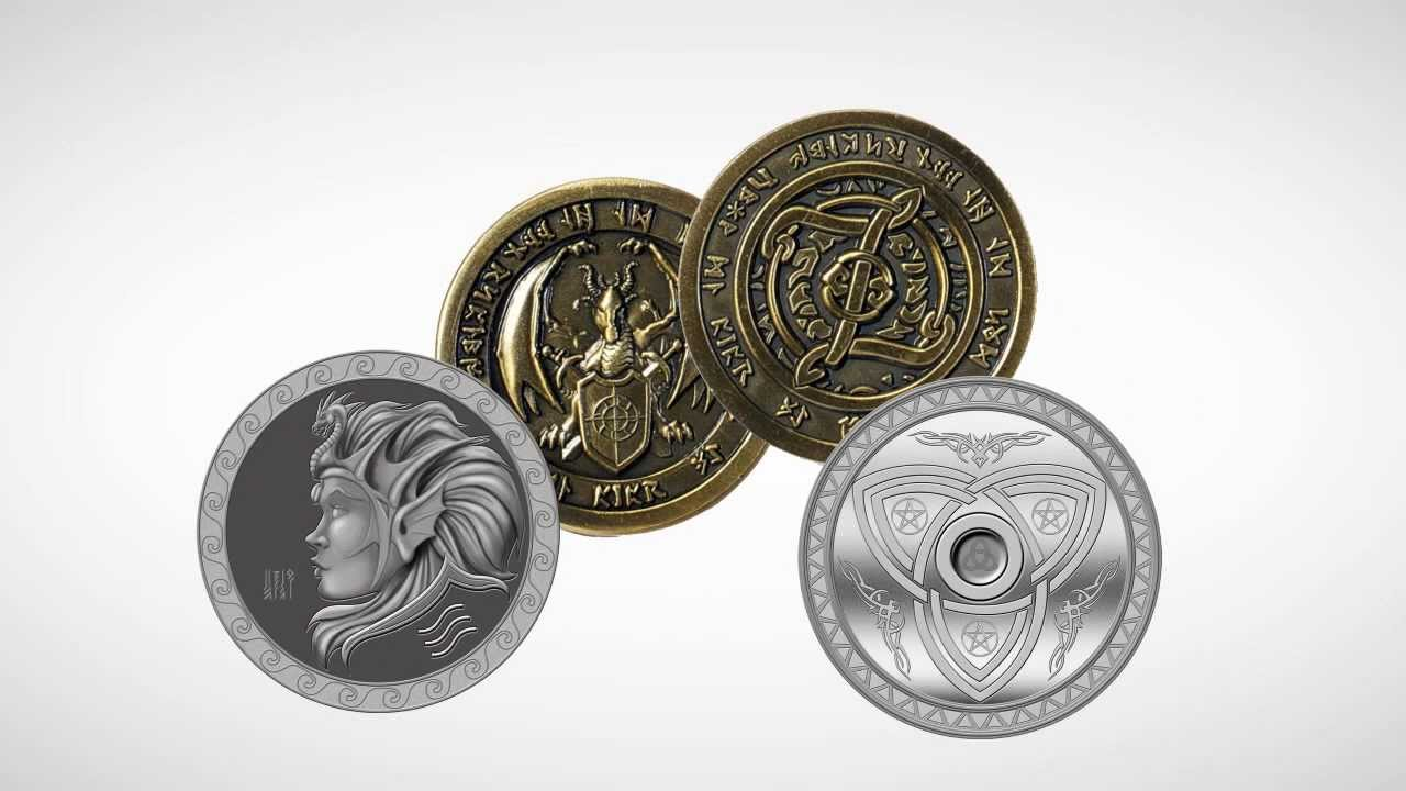 Fantasy Coins for Board Games RP and LARP