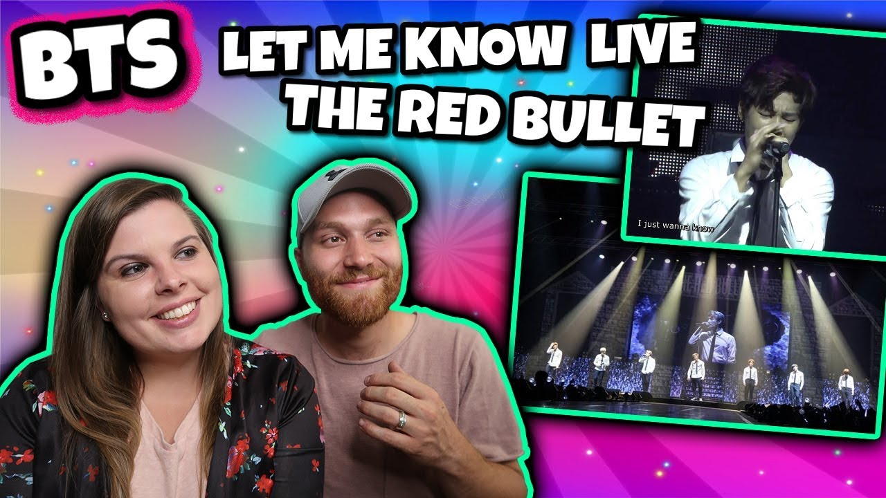 BTS THE RED BULLET DVD LET ME KNOW LİVE Reaction   Jimin's High Note!
