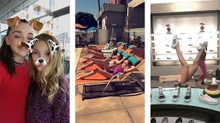 Brynn, kendall and Nia buying shoes and sunbathing by the pool