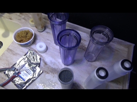 How to repack and refill a DI resin canister