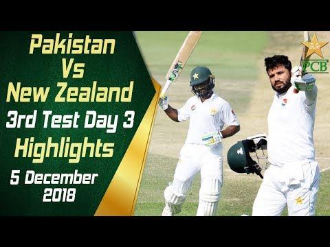 Pakistan Vs New Zealand | Highlights | 3rd Test Day 3 | 5 December 2018 | PCB