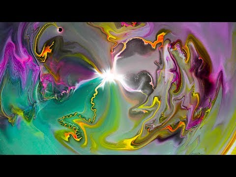 INCREDIBLE MACRO OF PAINT REACTIONS [4K UHD] - Colorful Mind -