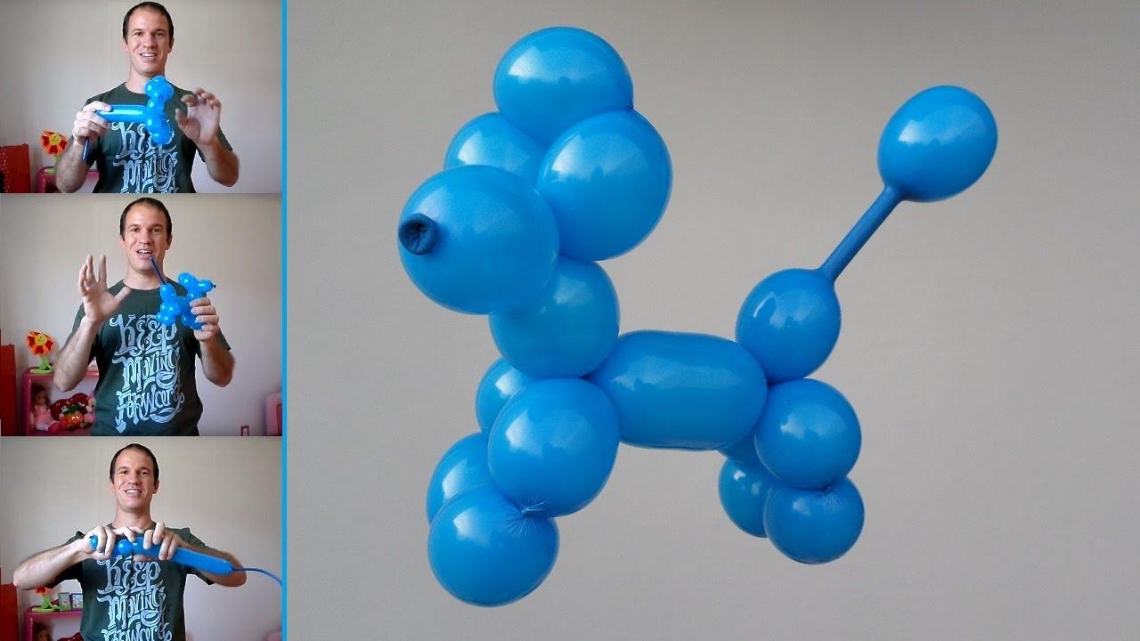 Como hacer un perrito con globos como hacer figuras con - Como hacer figuras con globos ...