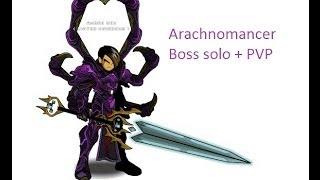 AQW Arachnomancer class boss solo + PVP