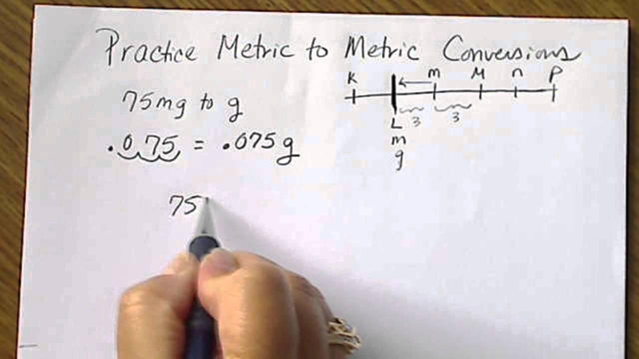 Practice Metric To Metric Conversions W Prefix Numberline Youtube