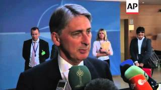 NATO defence ministers arrive, opening address, comment on Syria
