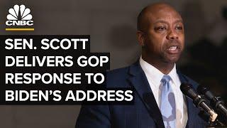 Sen. Tim Scott delivers GOP response to President Biden's address to Congress — 4/28/21